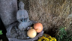 Budha hlídá vchod...